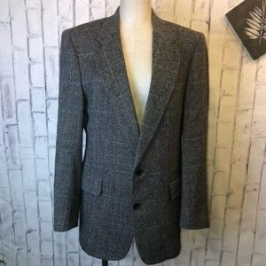 Christian Dior vintage tweed 2 button blazer